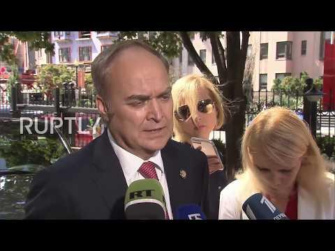 USA: New Russian ambassador Antonov presents credentials to Trump