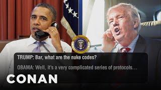 Still More Leaked Trump & Obama Phone Calls  - CONAN on TBS