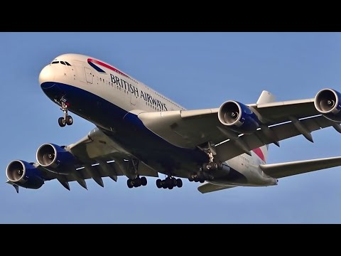138 planes in 1 hour, London Heathrow LHR 🇬🇧 Plane spotting, Watching airplanes Busy heavy traffic
