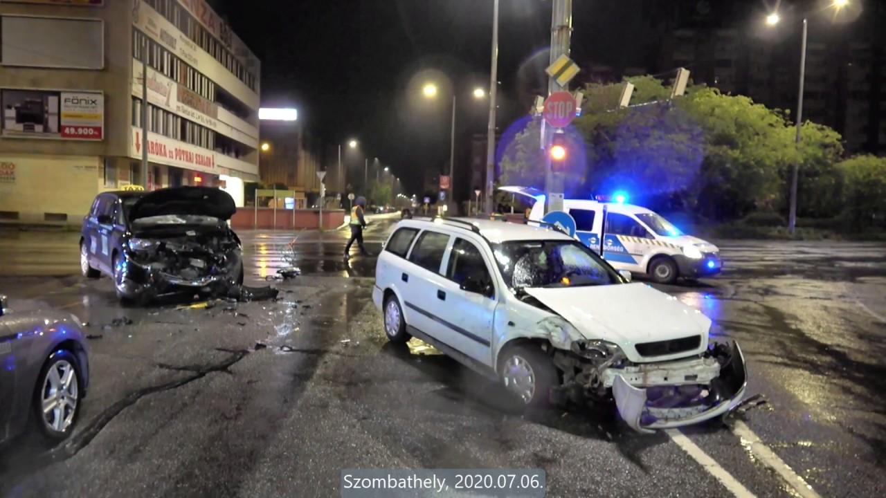 Taxi elé kanyarodott Opel - ketten megsérültek Szombathelyen