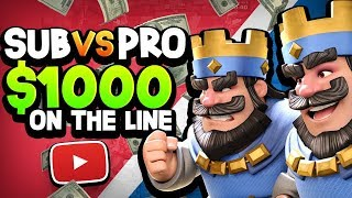 SUBS vs PRO for $1,000 CASH!? CAN THEY WIN?!