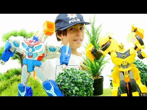 Transformers OPTİMUS Prime ve Bumblebee UZAYdan geldi. Emirle dünya kurtarması! Erkek oyuncakları