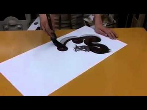 Disegno di un drago youtube for Disegni 3d facili per bambini