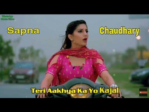 teri-ankhya-ka-yo-kajal-sapna-chaudhary-status-song