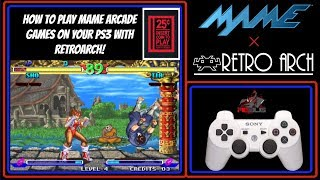 How To Play MAME Arcade Games On Your PS3 With RetroArch!