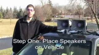 How to Set up the Sound Cruiser™ Car PA System from AmpliVox™