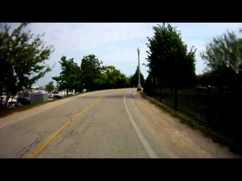 Cycling on Chicago's Lakefront Trail near Soldier Field, V31