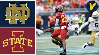 #15 Notre Dame vs Iowa State Highlights | 2019 Camping World Bowl Highlights | College Football