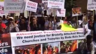 Sri Lankan Muslim Protest on18/06/2014 at UK prime Minister