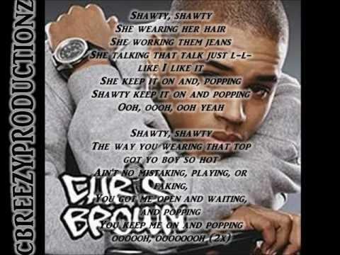 Chris Brown Poppin Lyrics