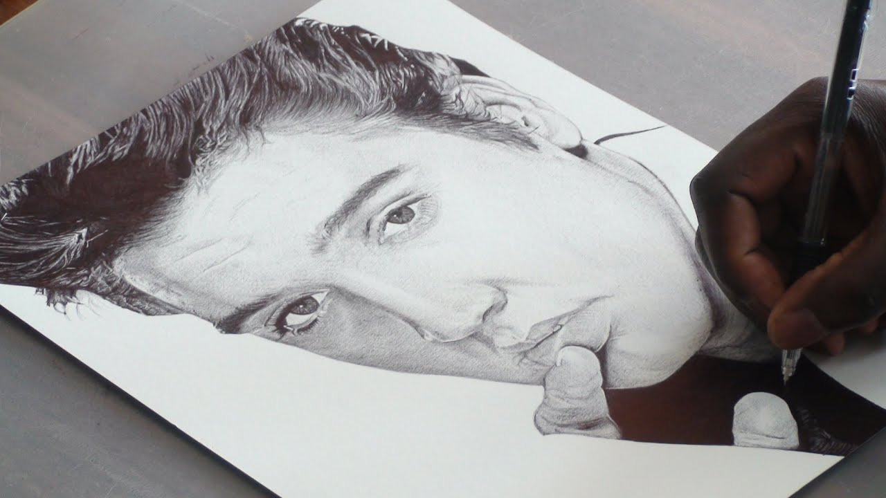 elvis presley pen drawing demoose art youtube