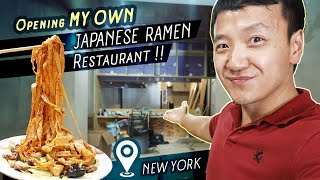 I'm Opening a JAPANESE RAMEN NOODLE Restaurant in New York!  RESTAURANT TOUR