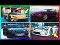 GTA 5 Online ALL 11 NEW Unreleased DLC Super Cars/Vehicles - Hidden Details, Secret Features & MORE!