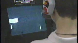 Johnny Arcade demonstrates *Ultra Games and Laserscope peripheral @ Winter CES 1991