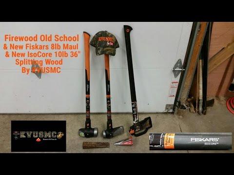 Firewood The Old School Way & New School Splitting Tools By KVUSMC