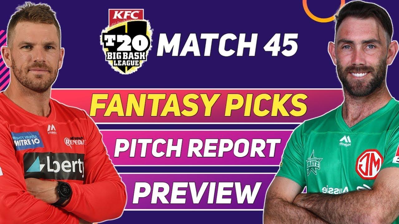 Melbourne Renegades vs Melbourne Stars | Fantasy Picks | Pitch Report | Preview