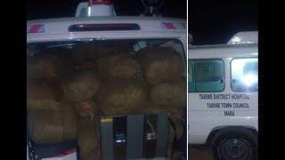 BREAKING: Ambulance imekamatwa na KILO 800 za Dawa za Kulevya