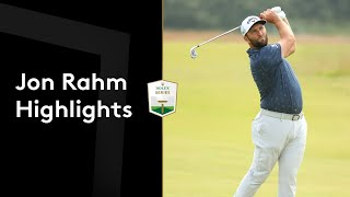 Jon Rahm shoots a front nine 29 to lead in Scotland | Round 2 Highlights
