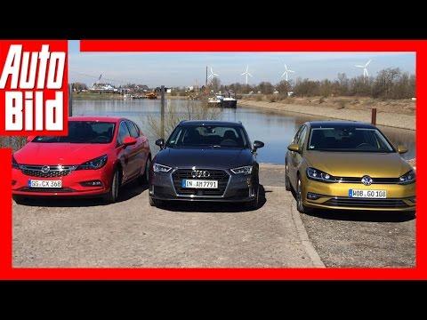 VW Golf vs. Audi A3 & Opel Astra (2017) - Review/Details/Fahrbericht