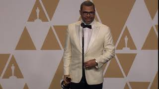 Jordan Peele in Oscars Press Room: 'Am I About to Be Auctioned Off?'