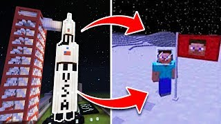 GO TO SPACE in Minecraft PE Using Command Blocks!! Minecraft Pocket Edition (No Mods)