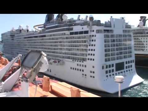 Carnival Sensation Cruise Ship Is Docking At Nassau