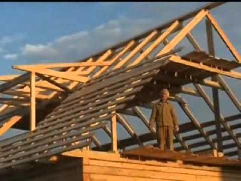 Как построить крышу дома из бруса своими руками