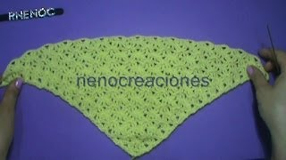 Puntada #abanico #triangular con doble punto alto #ganchillo #crochet