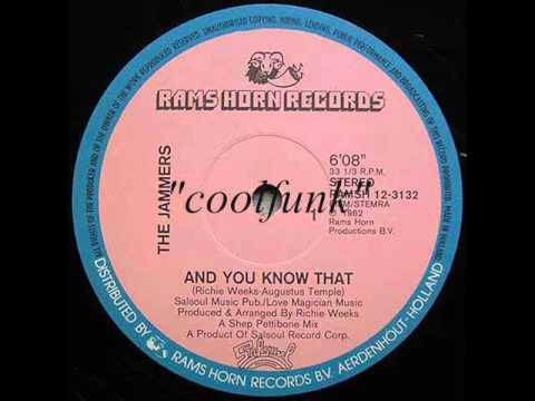 """The Jammers - And You Know That (12"""" Funk 1982)"""