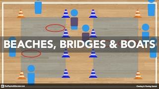 Beaches, Bridges & Boats - Physical Education Games (Chasing & Fleeing)