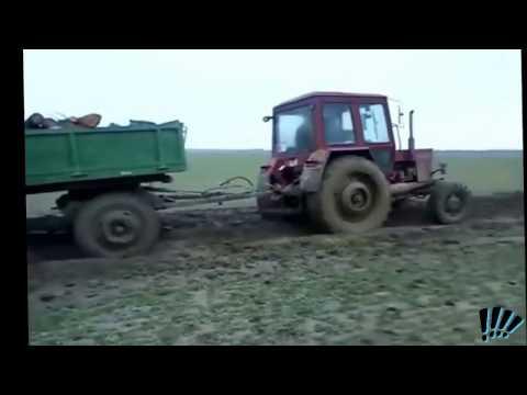 ПОДБОРКА!Русские трактора по бездорожью в грязи!SELECTION!Russian tractor offroad in the dirt!