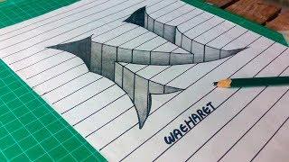 """วาด """"N"""" 3 มิติ """"N"""" 3D Trick Art"""
