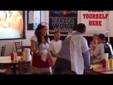 "Heart Attack Grill | Las Vegas : ""Finish your burger or nurse will spank you!"""