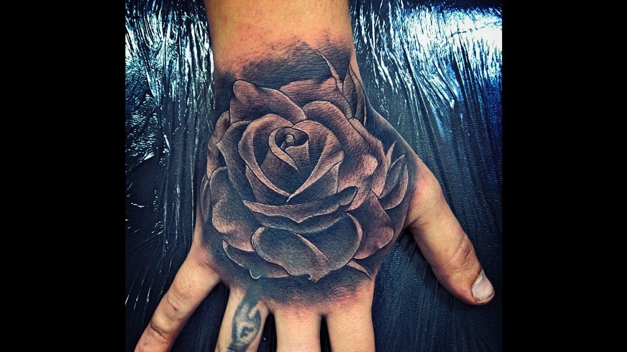 Tatuagem rosa realista - YouTube