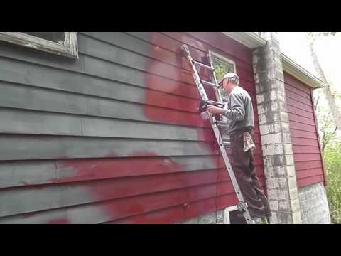 Painting whole house with KRAUSE & BECKER Electric Paint Spray Gun