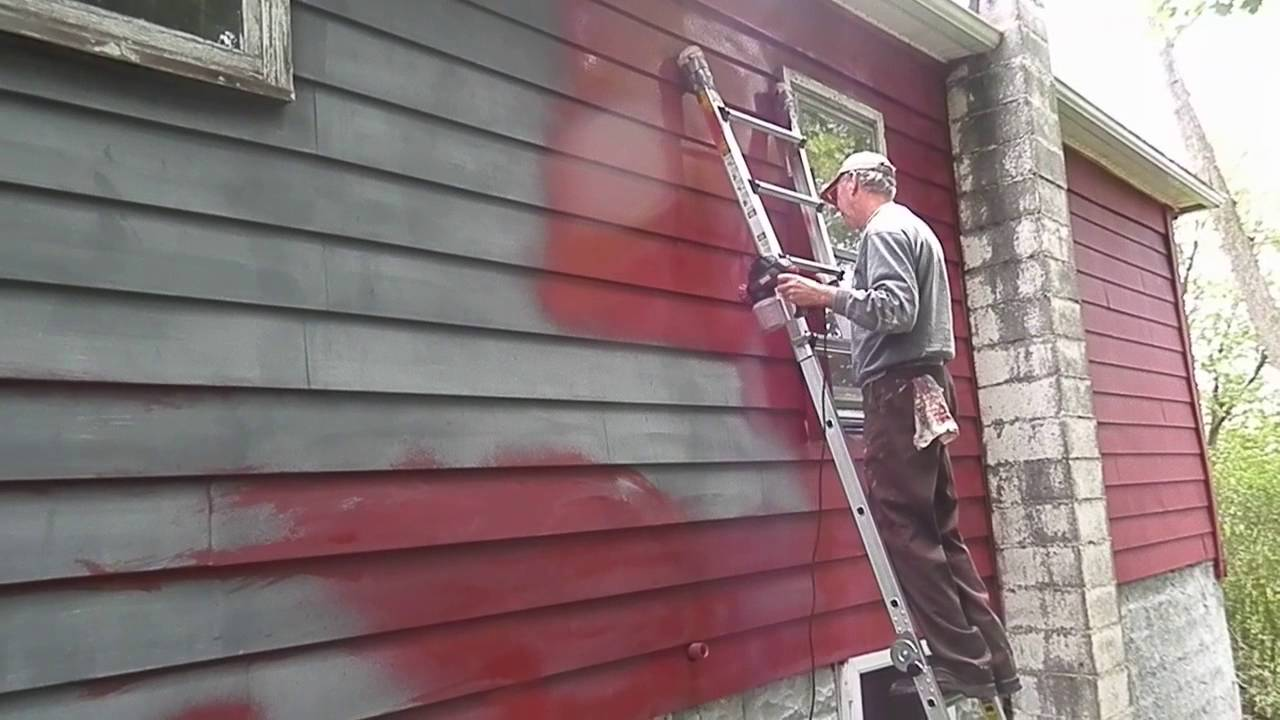 Painting Whole House With Krause Becker Electric Paint Spray Gun Youtube