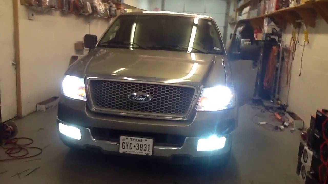 Ford F  Hid Lights Headlights Fog Lights Alpine Bass Package Jvc Bluetooth Probox Youtube