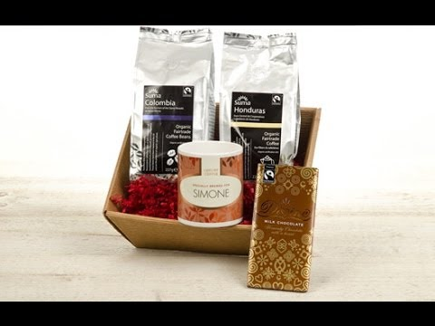 Personalised Coffee Hamper With Leaf Mug