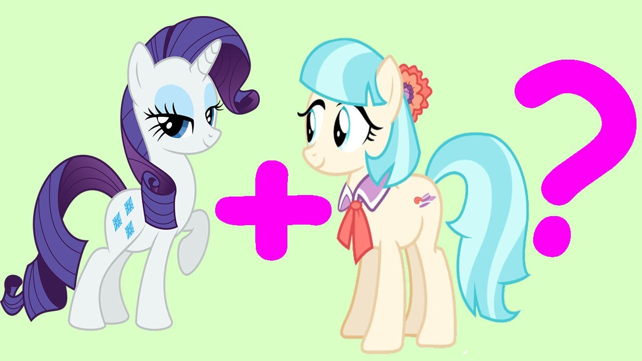 Rarity and Coco Pommel Fusion My Little Pony