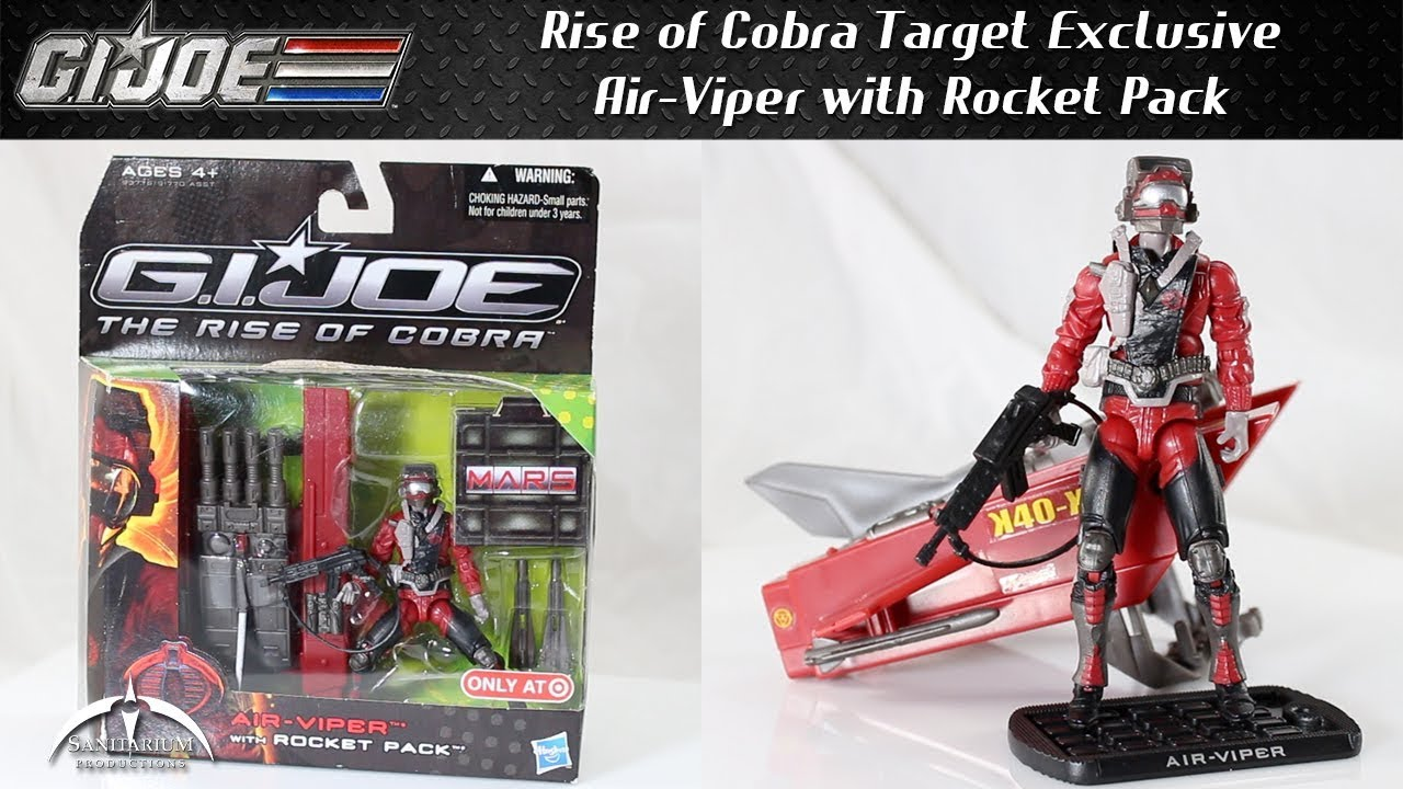 GI Joe Rise of Cobra Air-Viper with Rocket Pack Target Exclusive Unboxing  and Review