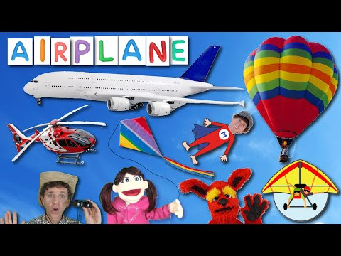 First Words Song #17 AIRPLANE | Learn 6 Things in the Sky | Learn English Kids