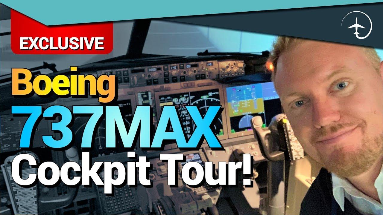 Boeing 737MAX Cockpit Tour