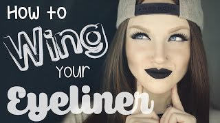 How To ' Wing ' Your Eyeliner