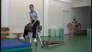 Опорный прыжок через гимнастического козла - обучение