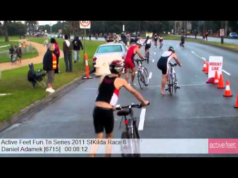 Daniel Adamek 6715 Active Feet Fun Tri Series 2011 StKilda Race 6
