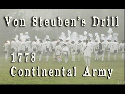 Revolutionary War - Von Steuben's Musket Drill HD