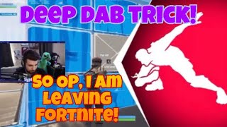 *NEW* DEEP DAB TRICK IN FORTNITE / PEAK WITHOUT BEING SEEN