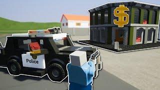 COPS & ROBBERS BANK HEIST! -  Brick Rigs Multiplayer Gameplay & Challenge