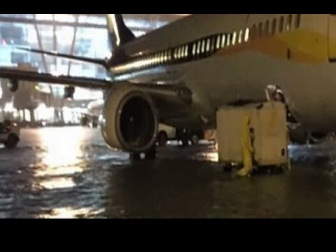 All flight operations suspended at Chennai airport; waters inundated the runway