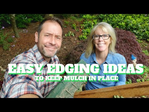 🌿 5 Easy Edging Ideas To Keep Mulch In Place 🌿